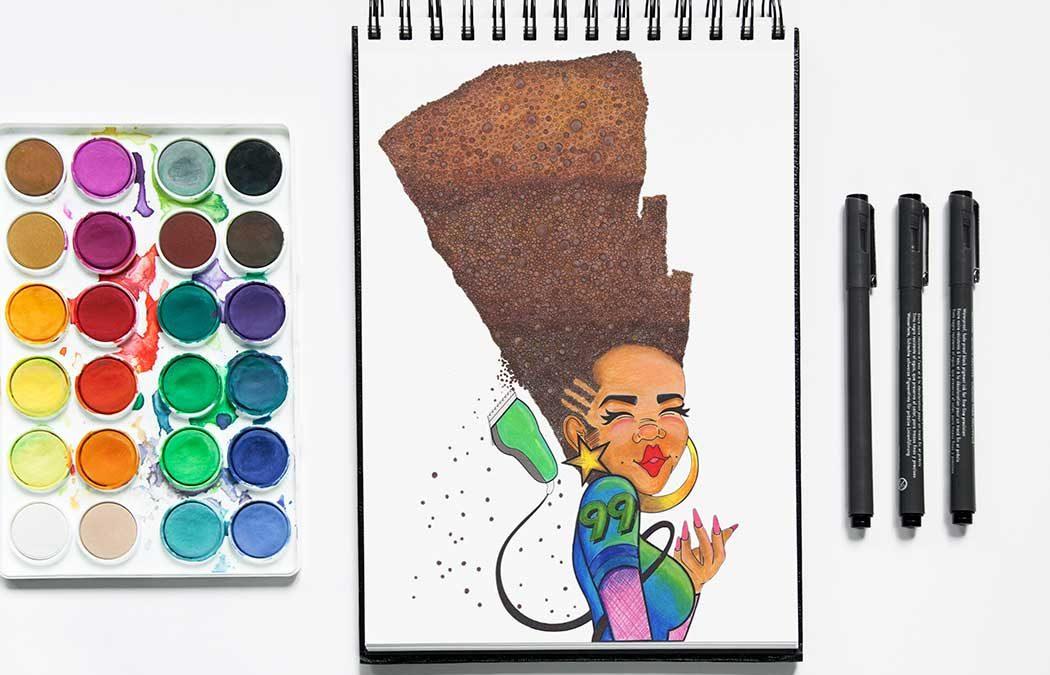 Natural Hair Journey Illustration Series