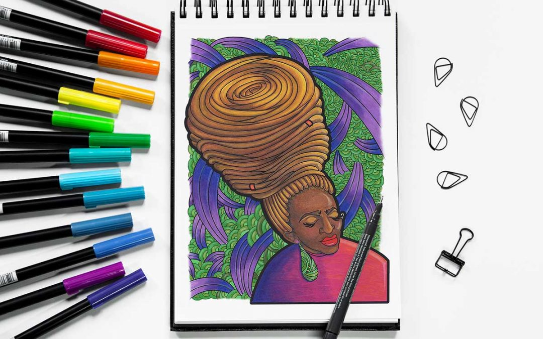 Natural Hair Journey Illustration Series YouTuber