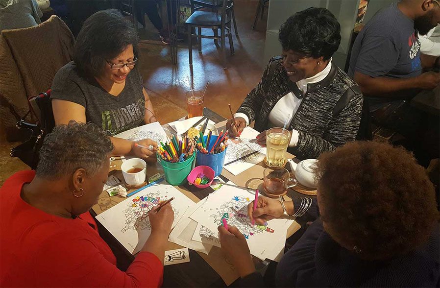 Coloring Event at SocraTea