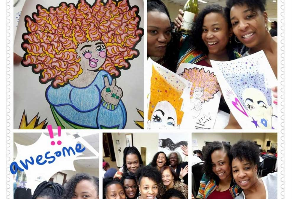 Natural Hair Journey Illustration Series Coloring Event